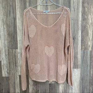 Papaya Heart Knit Sweater M/L
